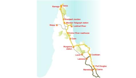 Archer River to Bramwell Map